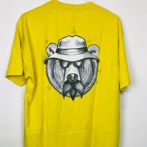 Diamond Supply Co Grizzly Bear T Shirt in Yellow L
